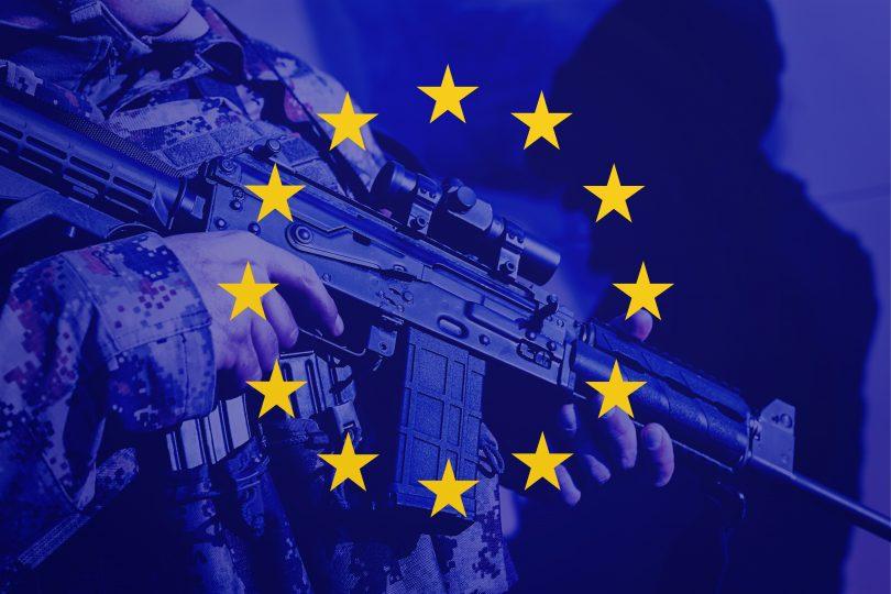 EU soldier flag