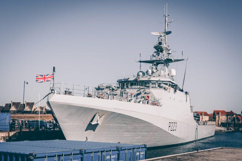 white war ship Royal Navy